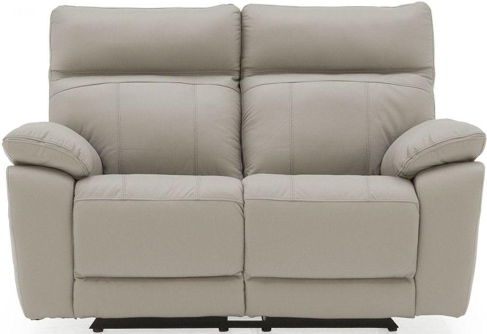 Vida Living Positano Light Grey Leather 2 Seater Recliner Sofa
