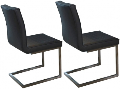 Vida Living Prestige Grey Dining Chair - (Pair)