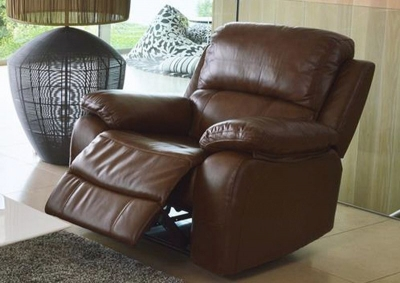 Vida Living Primo Leather Recliner Armchair - Chestnut Brown