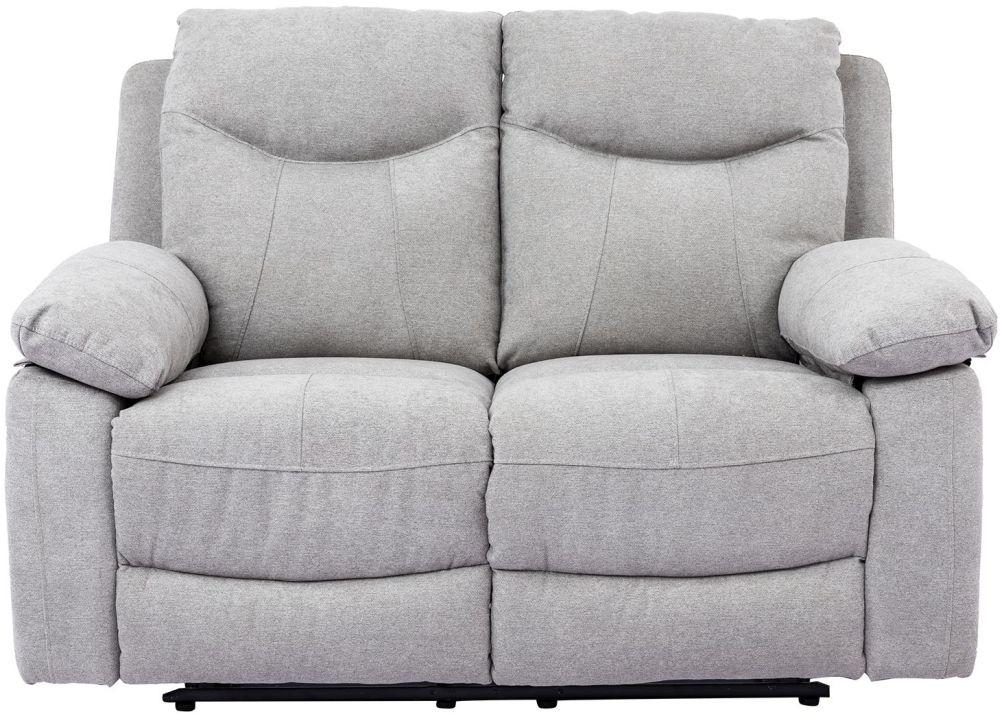 Vida Living Radcliff Grey Fabric 2 Seater Recliner Sofa