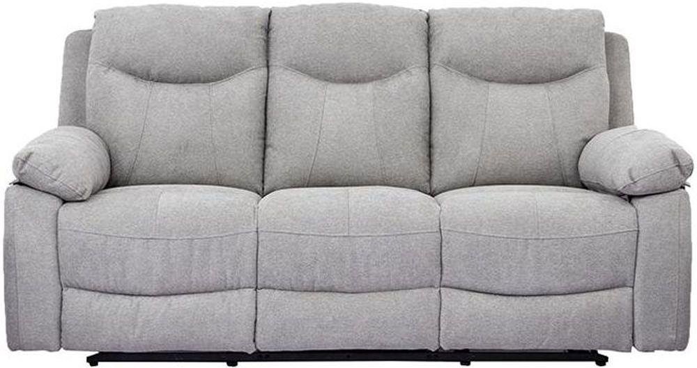Vida Living Radcliff Grey Fabric 3 Seater Recliner Sofa