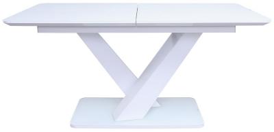 Vida Living Rafael 120cm-160cm White Gloss Extending Dining Table