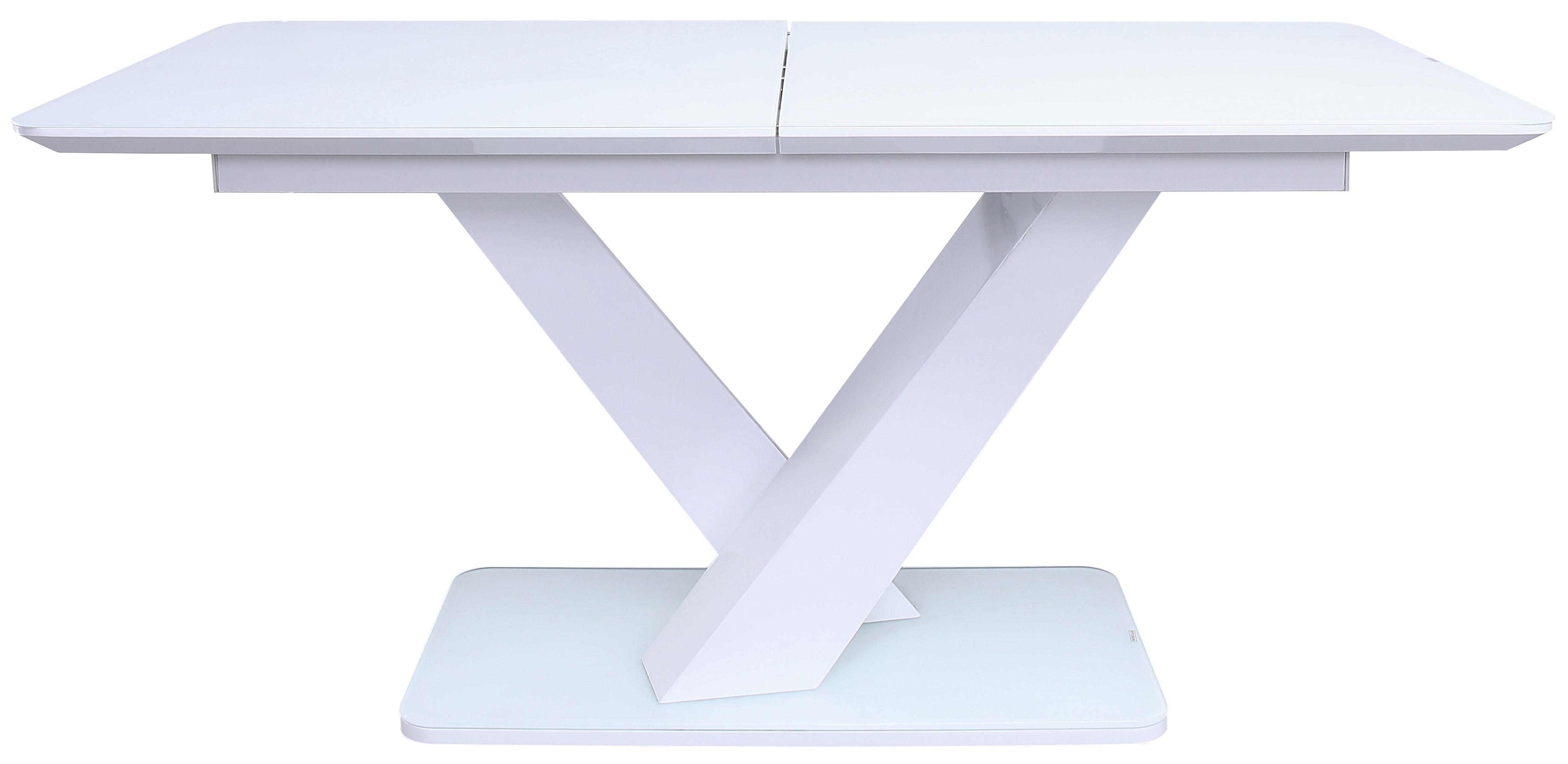 Vida Living Rafael 160cm-200cm White Gloss Extending Dining Table