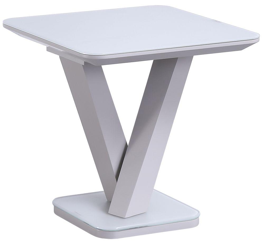 Vida Living Rafael Light Grey Lamp Table