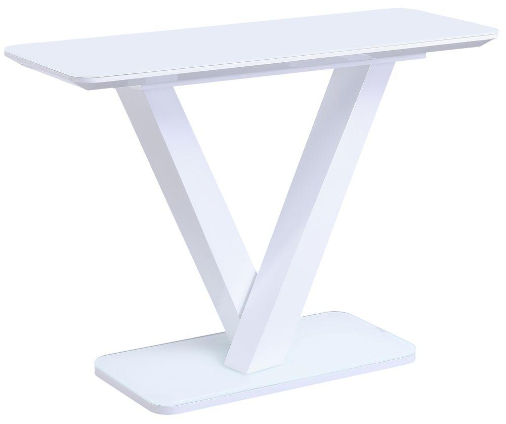 Vida Living Rafael  White Gloss Console Table