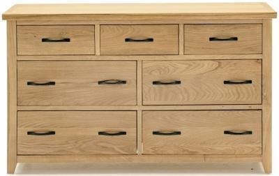 Vida Living Ramore Oak 7 Drawer Dresser Chest