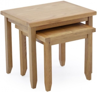 Vida Living Ramore Oak Nest of Tables