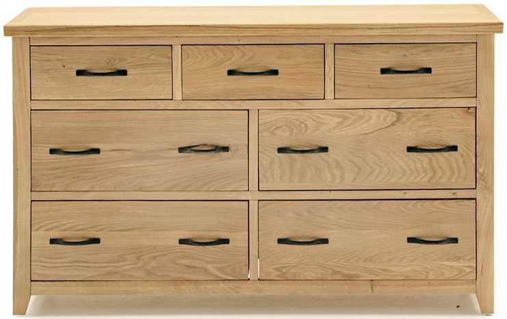 Vida Living Ramore Oak 7 Drawer Dresser Chest