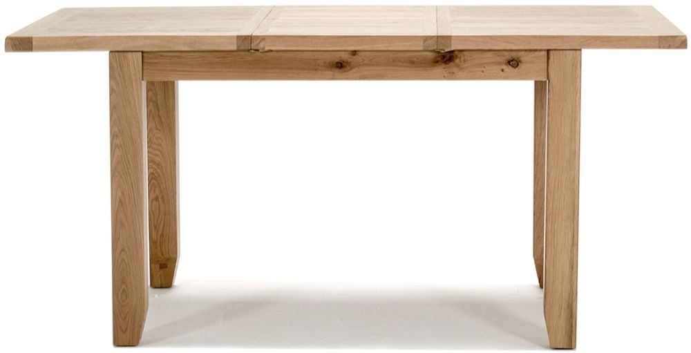Vida Living Ramore Oak Dining Table - 120cm-165cm Rectangular Extending