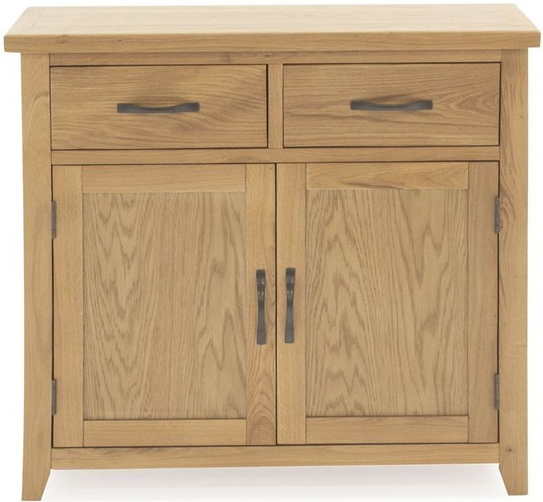 Vida Living Ramore Oak 2 Door 2 Drawer Narrow Sideboard