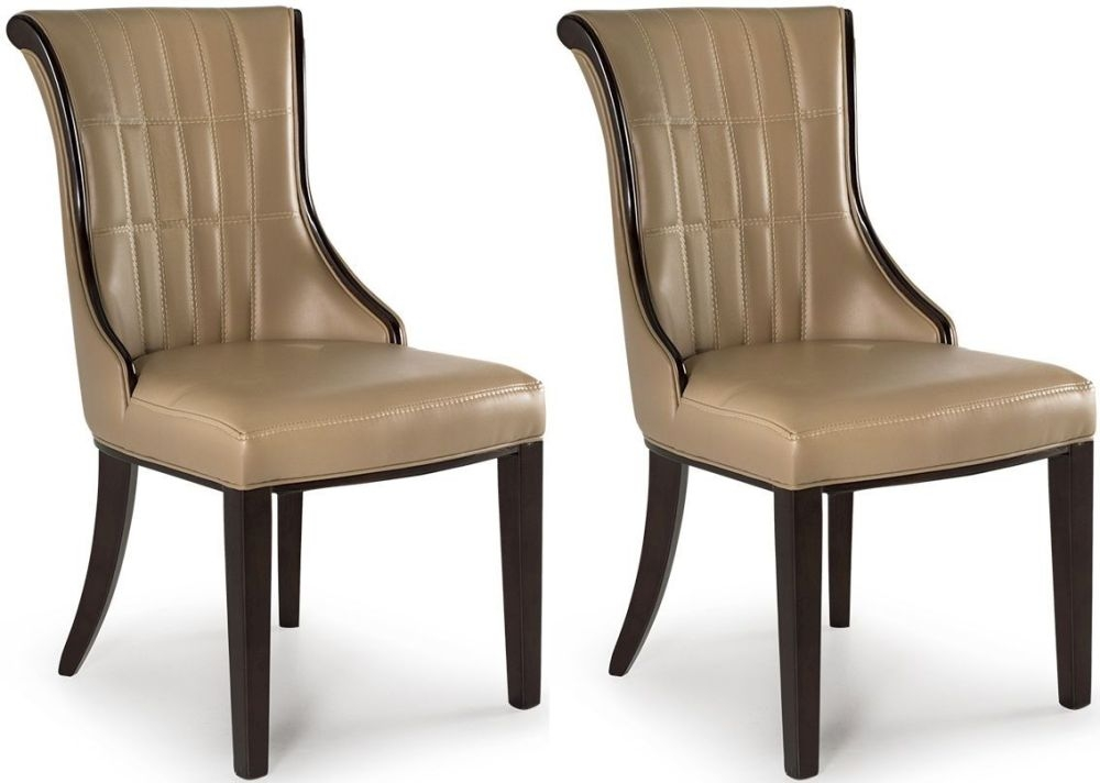 Vida Living Ravelli Beige Faux Leather Dining Chair (Pair)