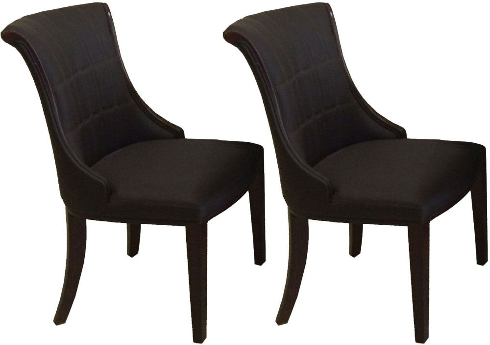 Vida Living Ravelli Faux Leather Dining Chair - Brown (Pair)