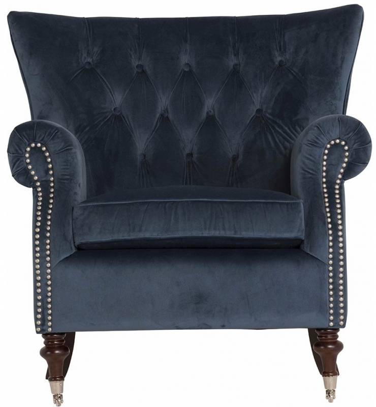 Vida Living Rigby Midnight Velvet Armchair