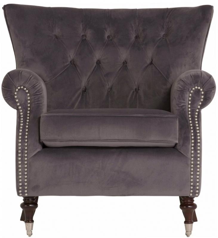 Vida Living Rigby Misty Velvet Armchair