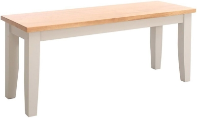 Vida Living Riina Bench - Oak and Taupe Painted
