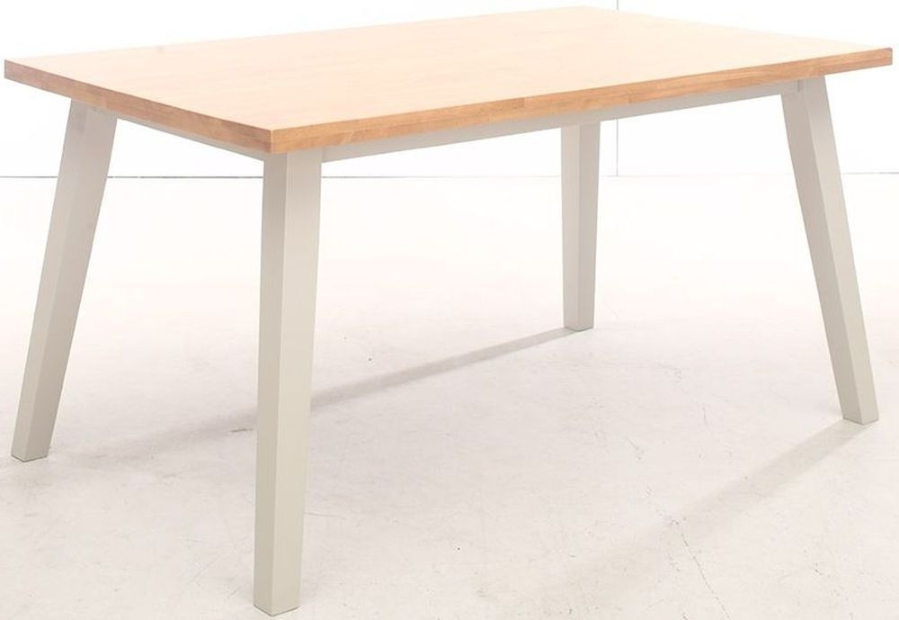 Vida Living Riina Dining Table - Oak and Taupe Painted