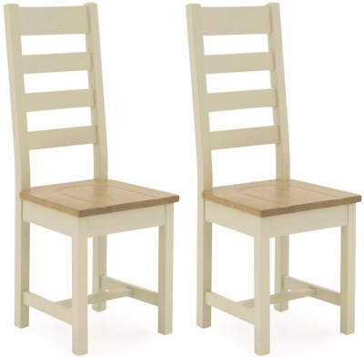 Vida Living Rochelle Painted Ladder Back Dining Chair (Pair)