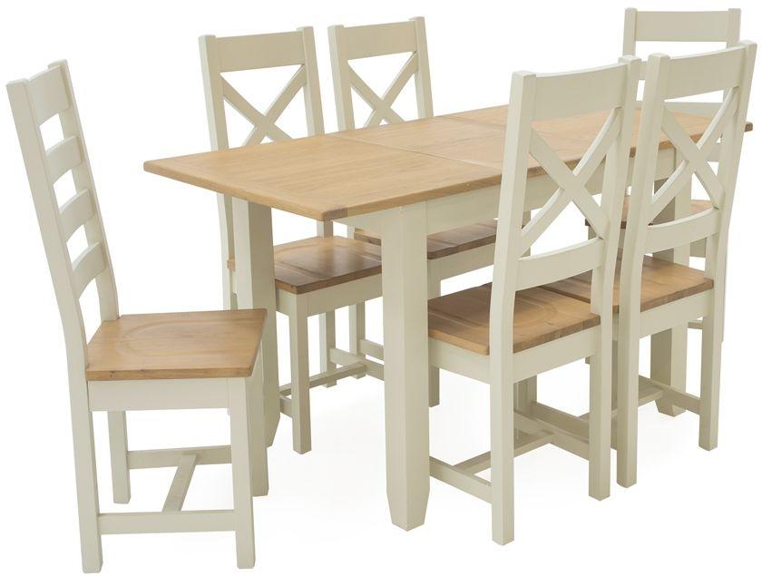 Vida Living Rochelle Painted 150cm Dining Table - Extending