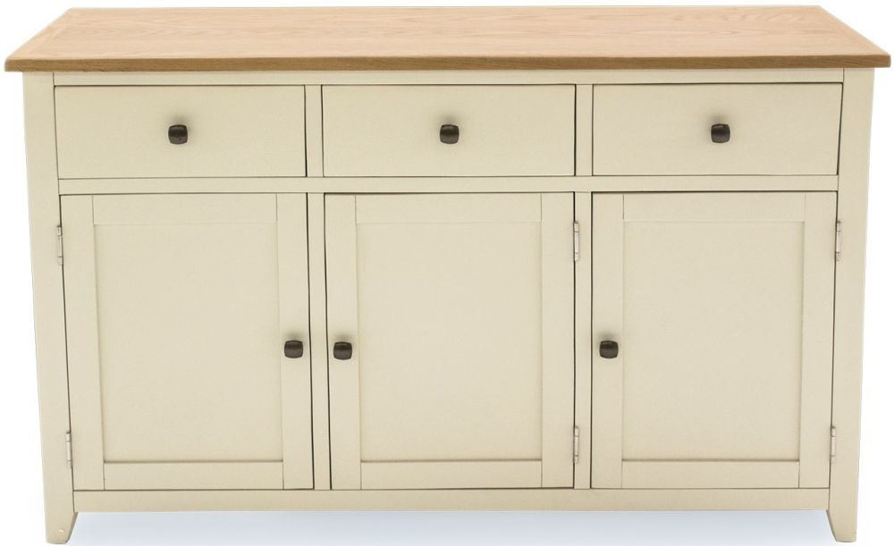 Vida Living Rochelle Painted 3 Door 3 Drawer Wide Sideboard