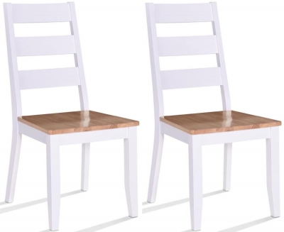 Vida Living Rona Dining Chair (Pair) - Oak and Grey Painted