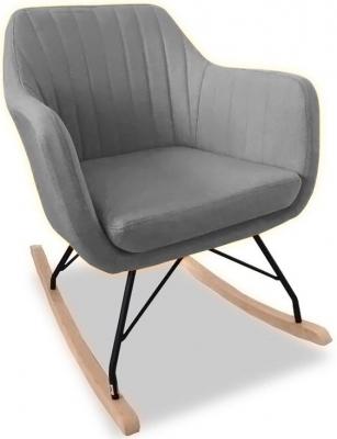 Vida Living Katell Light Grey Fabric Rocking Chair