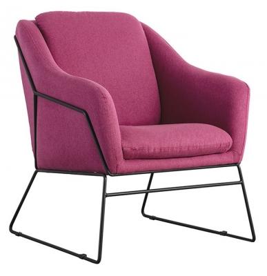 Vida Living Karl Berry Fabric Accent Chair
