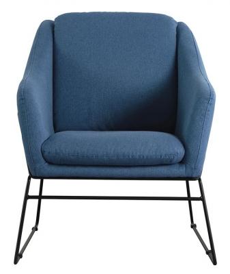 Vida Living Karl Blue Fabric Accent Chair