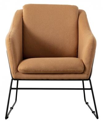 Vida Living Karl Mustard Fabric Accent Chair