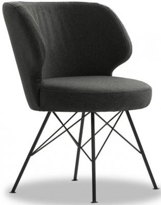 Vida Living Erwan Charcoal Fabric Accent Chair