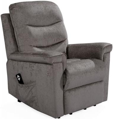 Vida Living Glencoe Mink Fabric Electric Recliner Chair