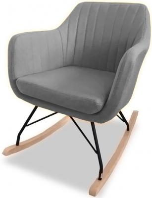 Vida Living Katell Light Grey Rocking Fabric Chair