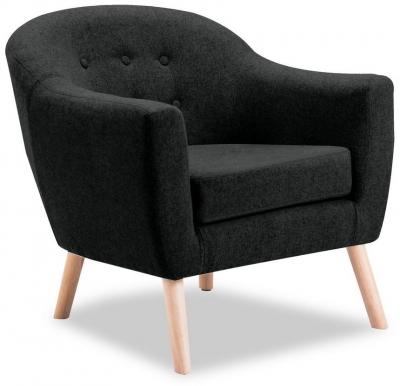 Vida Living Perig Charcoal Fabric Accent Chair
