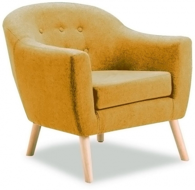 Vida Living Perig Mustard Fabric Accent Chair