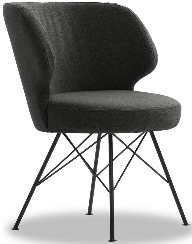 Vida Living Erwan Charcoal Fabric Accent Chair