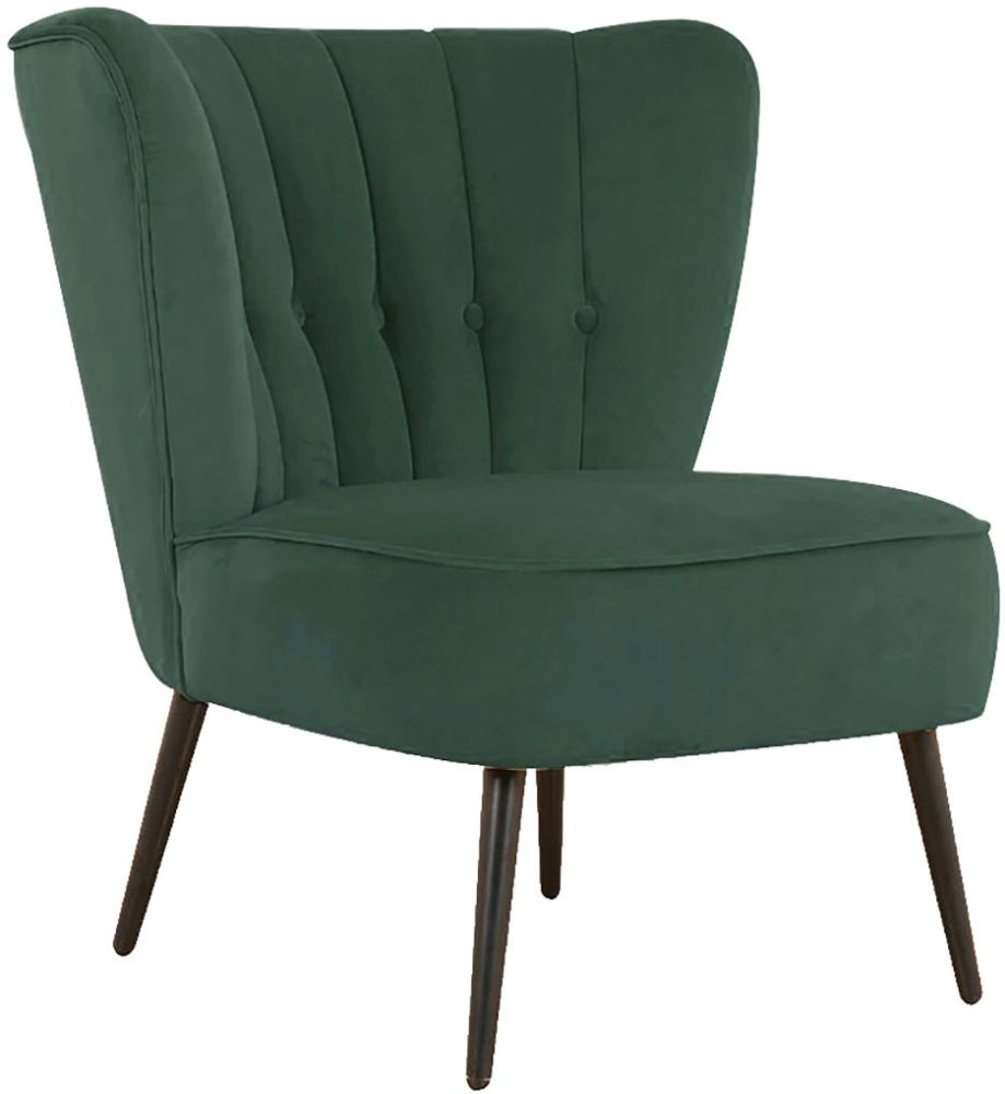 Vida Living Selma Green Velvet Accent Chair