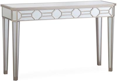 Vida Living Rosa Geometric Mirrored Console Table