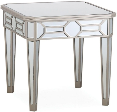Vida Living Rosa Geometric Mirrored End Table