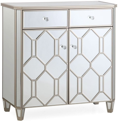 Vida Living Rosa Geometric Mirrored  2 Door 2 Drawer Sideboard