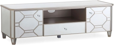 Vida Living Rosa Mirrored TV Cabinet