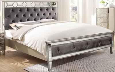 Vida Living Rosa Geometric Mirrored Bed