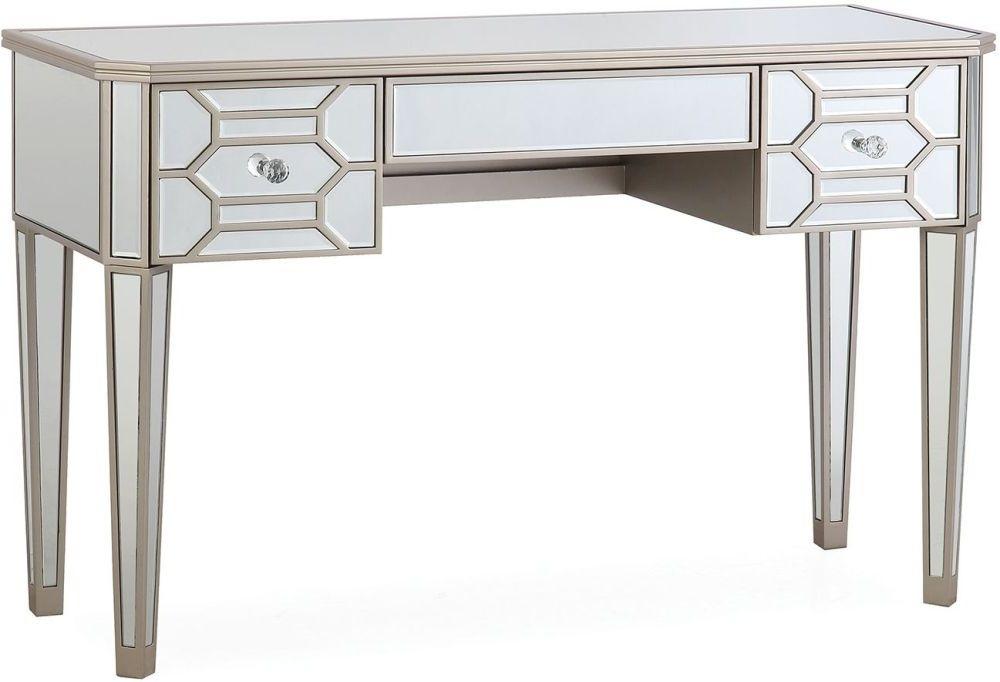 Vida Living Rosa Geometric Mirrored 3 Drawer Dressing Table