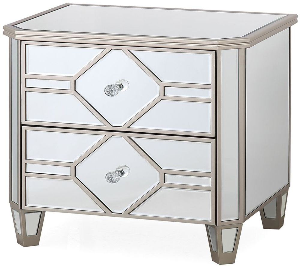 Vida Living Rosa Mirrored Night Table