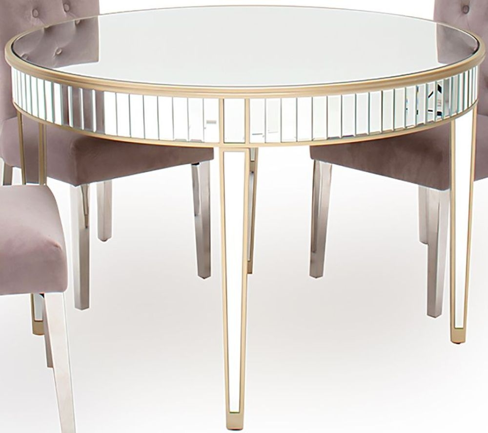 Vida Living Rosa Mirrored Round Dining Table