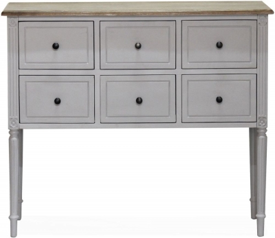 Vida Living Rowan 6 Drawer Chest - Mindi Veneer and Grey Painted