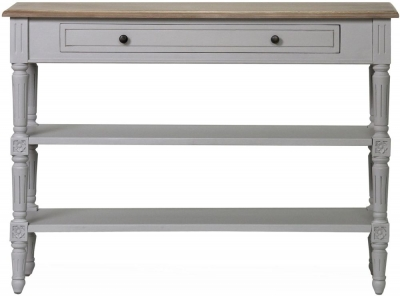 Vida Living Rowan Console Table - Mindi Veneer and Grey Painted