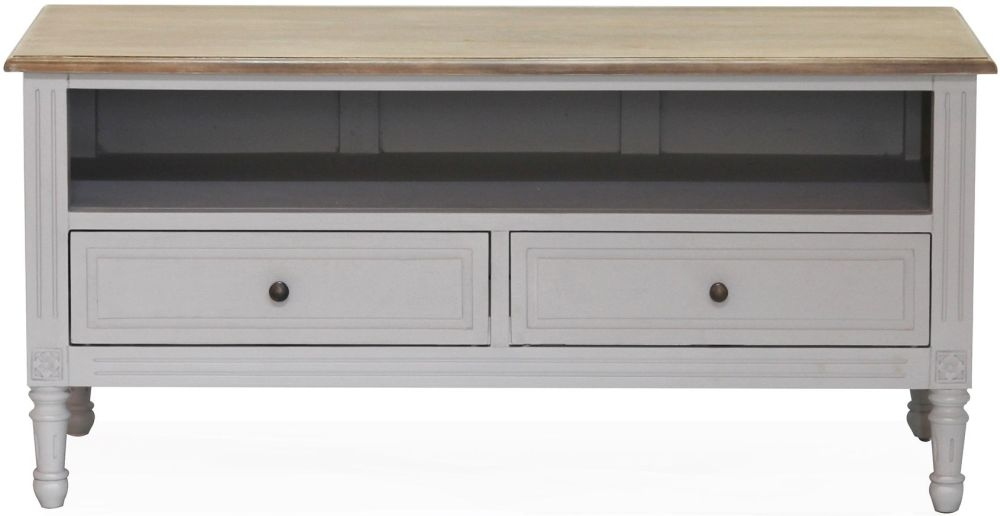 Vida Living Rowan TV Cabinet - Mindi Veneer and Grey Painted