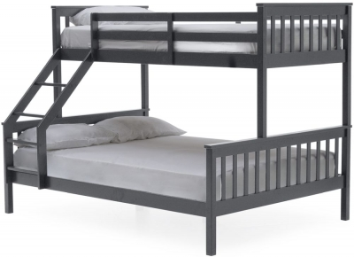 Vida Living Salix 3ft and 4ft 6in Grey Painted Bunk Bed
