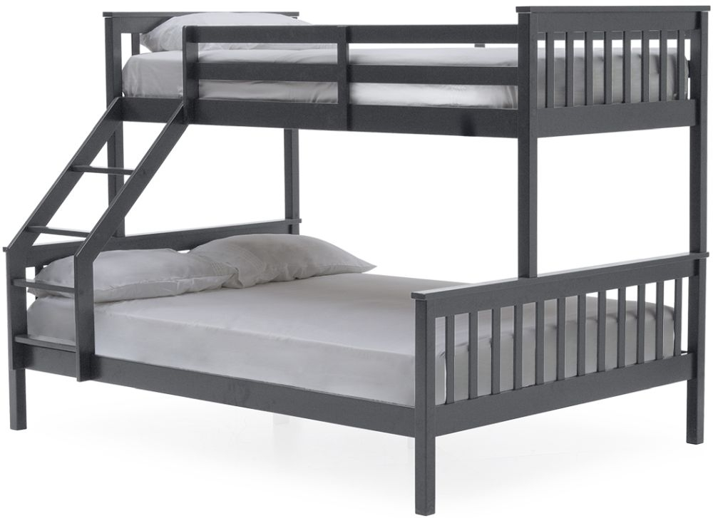Vida Living Salix 3ft and 4ft 6in Bunk Bed - Grey