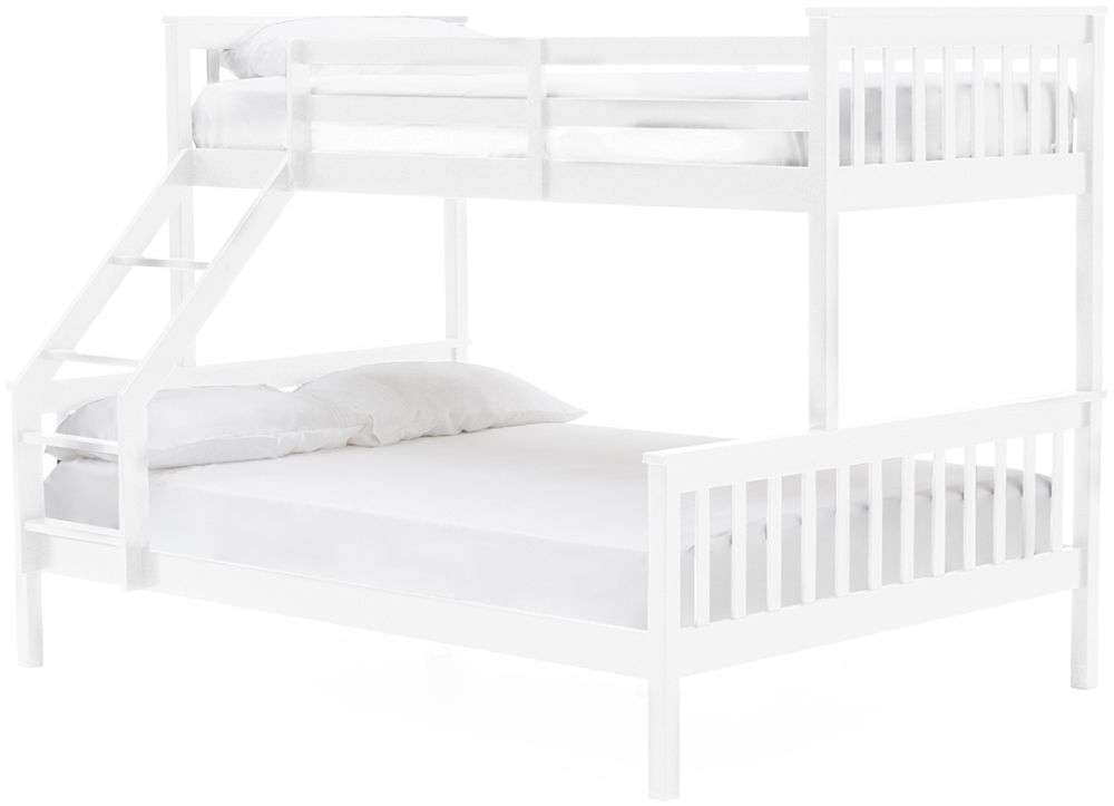Vida Living Salix 3ft and 4ft 6in White Bunk Bed