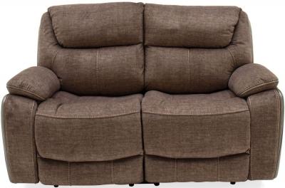 Vida Living Santiago 2 Seater Recliner Sofa - Brown Fabric